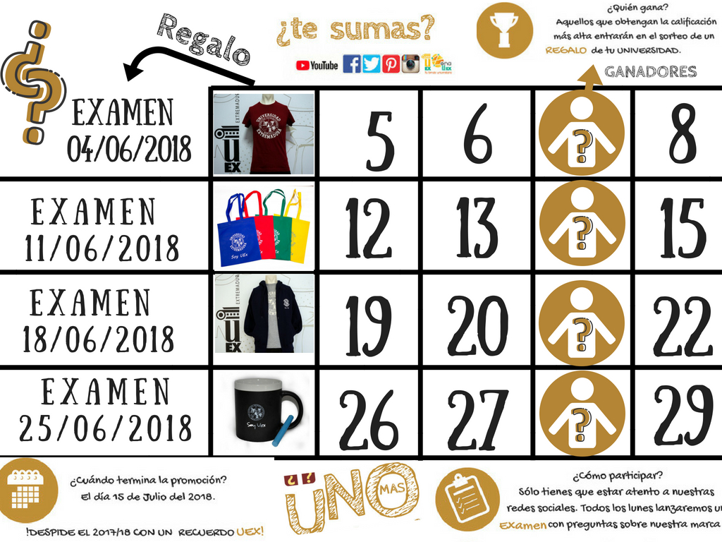 """Promoción de JUNIO-JULIO 2018 """"UNO MAS"""""""