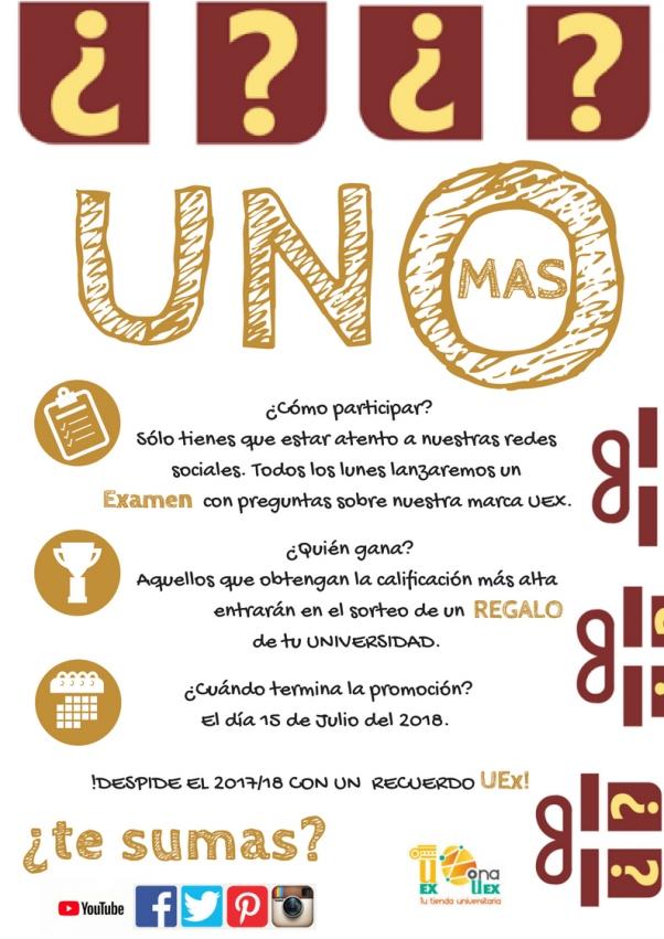 Calendario Uex.Promocion De Junio Julio 2018 Uno Mas Zona Uex Tu Tienda